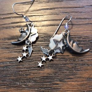 Celestial Earrings-Sun, Moon, Stars & Cloud